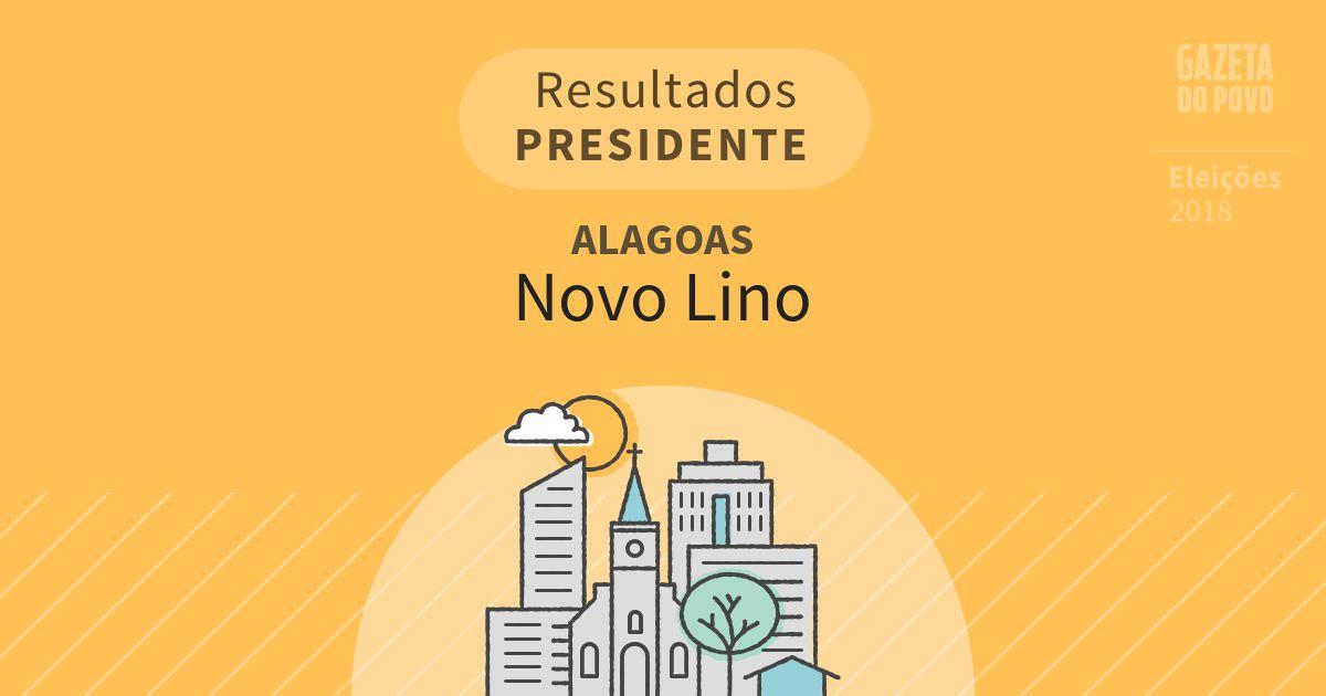Resultados para Presidente em Alagoas em Novo Lino (AL)
