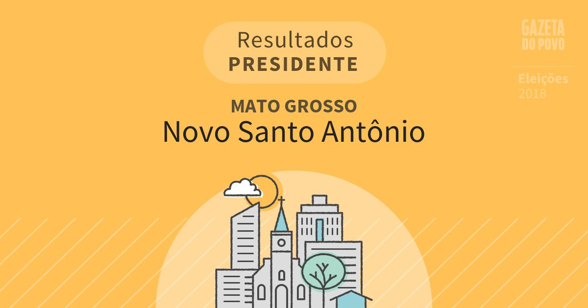 Resultados para Presidente no Mato Grosso em Novo Santo Antônio (MT)