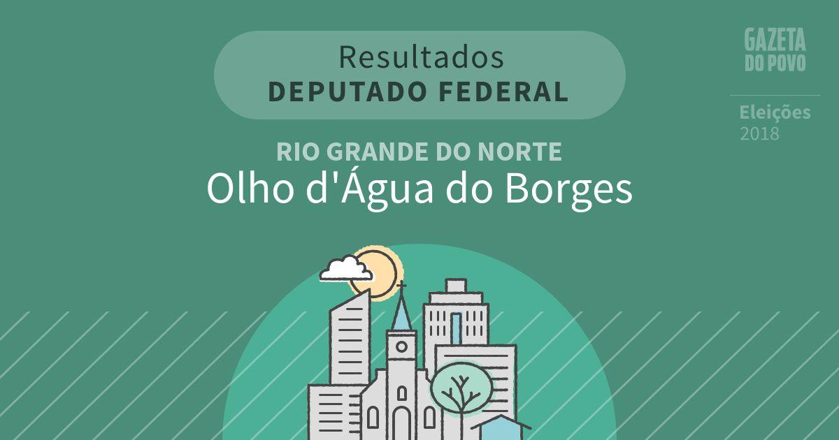 Resultados para Deputado Federal no Rio Grande do Norte em Olho d'Água do Borges (RN)