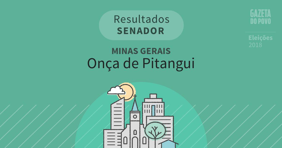 Resultados para Senador em Minas Gerais em Onça de Pitangui (MG)