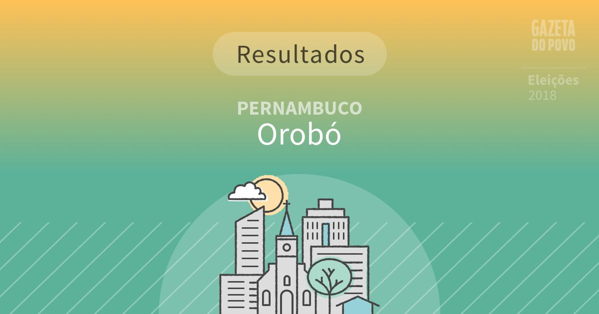 Resultados da votação em Orobó (PE)