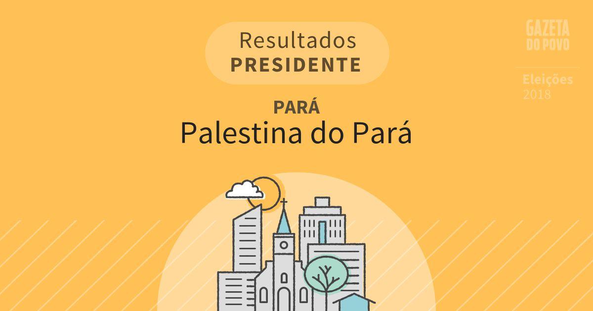 Resultados para Presidente no Pará em Palestina do Pará (PA)