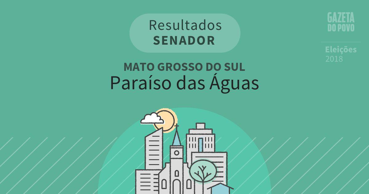 Resultados para Senador no Mato Grosso do Sul em Paraíso das Águas (MS)