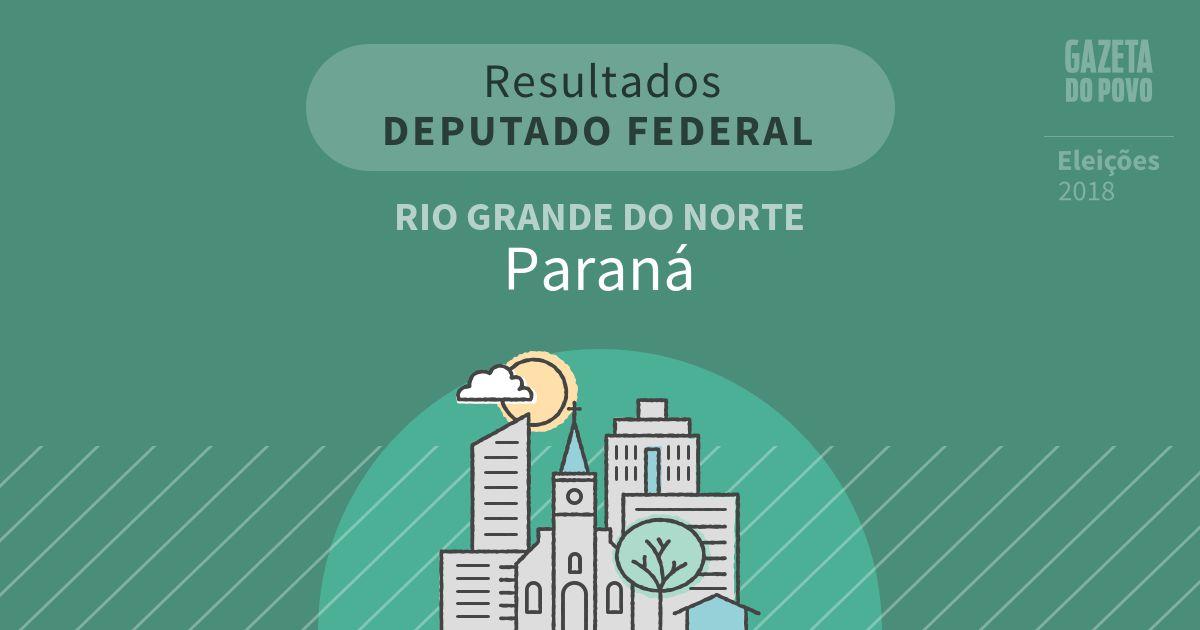 Resultados para Deputado Federal no Rio Grande do Norte em Paraná (RN)