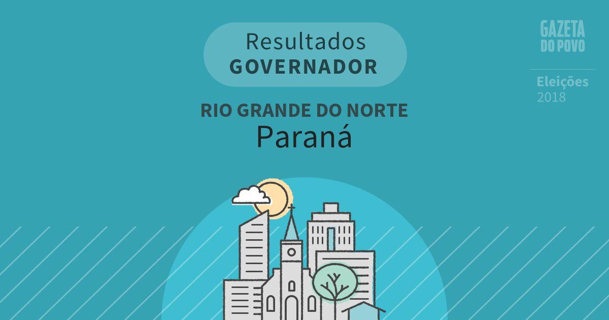 Resultados para Governador no Rio Grande do Norte em Paraná (RN)