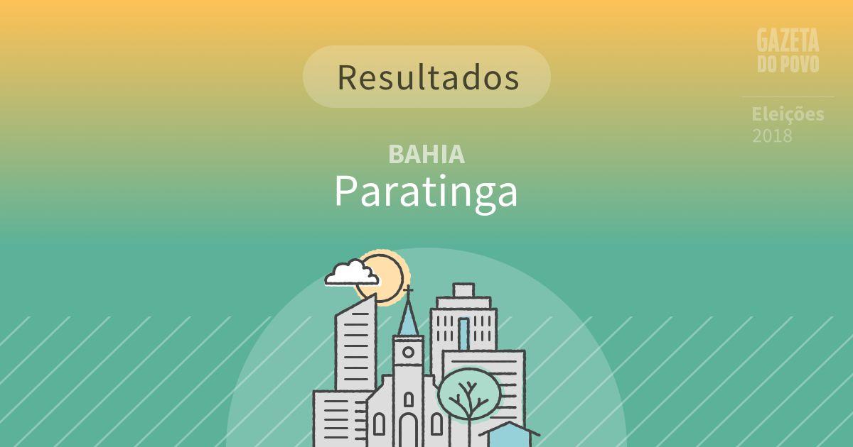 Resultados da votação em Paratinga (BA)