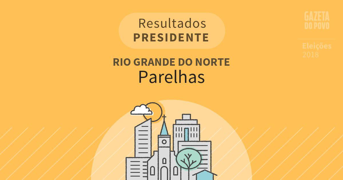 Resultados para Presidente no Rio Grande do Norte em Parelhas (RN)