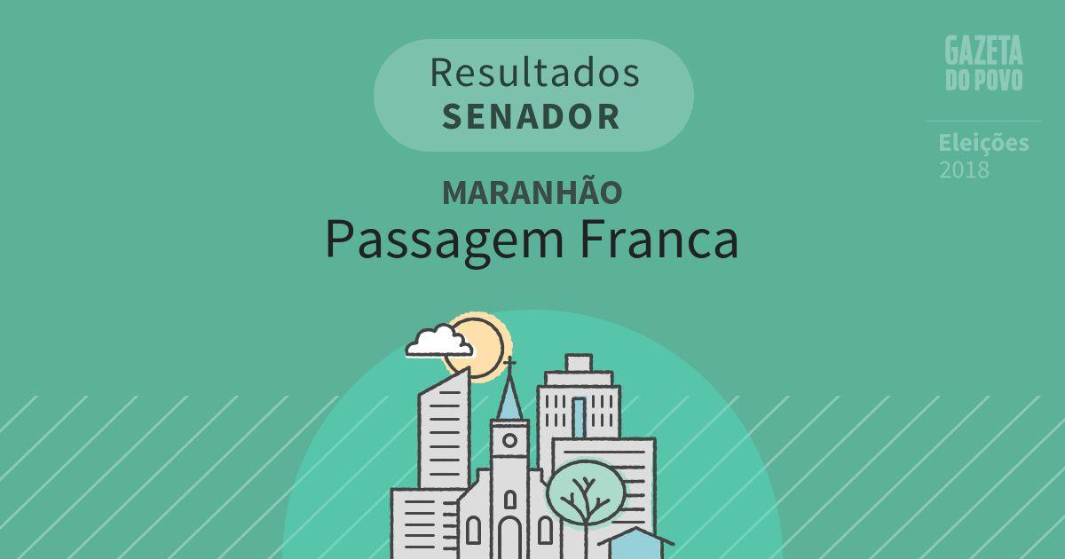 Resultados para Senador no Maranhão em Passagem Franca (MA)