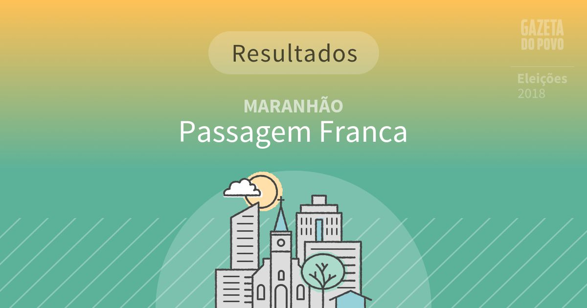 Resultados da votação em Passagem Franca (MA)