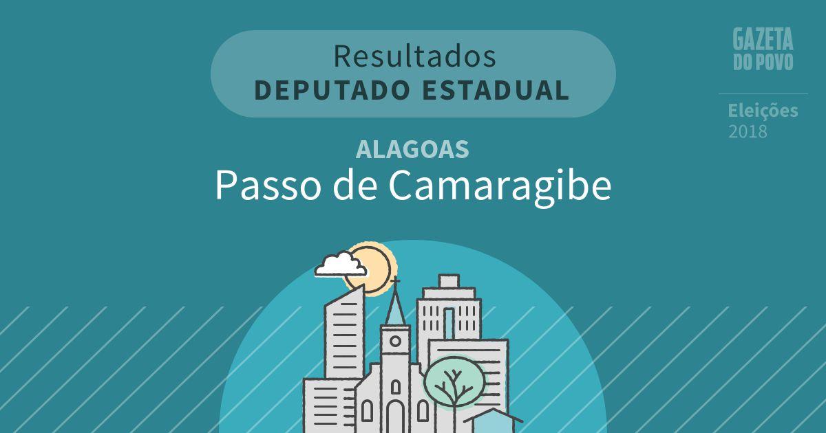 Resultados para Deputado Estadual em Alagoas em Passo de Camaragibe (AL)