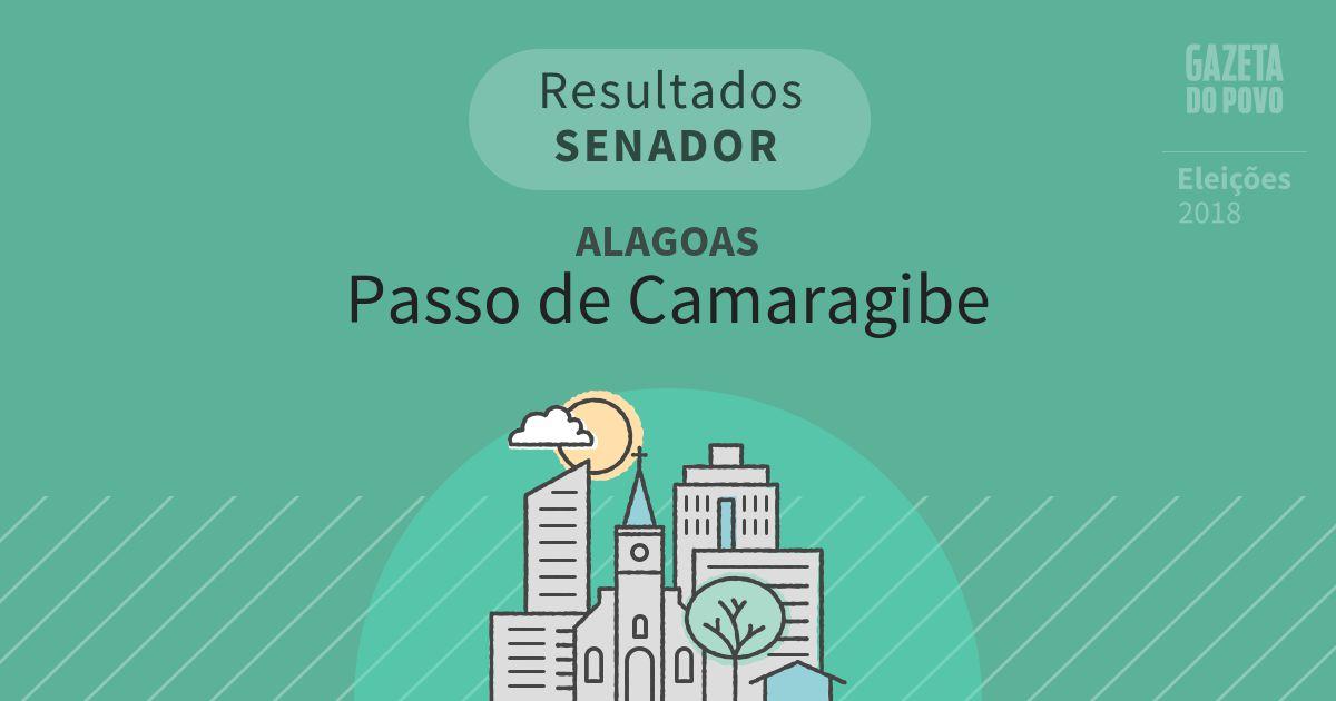 Resultados para Senador em Alagoas em Passo de Camaragibe (AL)