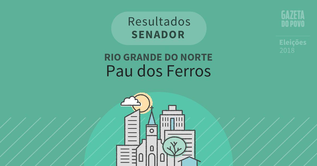 Resultados para Senador no Rio Grande do Norte em Pau dos Ferros (RN)