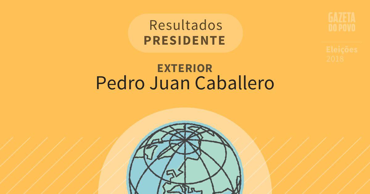 Resultados para Presidente no Exterior em Pedro Juan Caballero (Exterior)