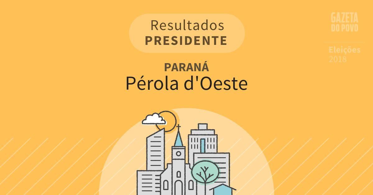 Resultados para Presidente no Paraná em Pérola d'Oeste (PR)