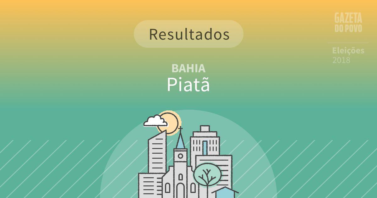 Resultados da votação em Piatã (BA)