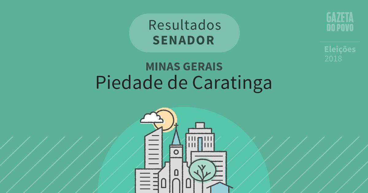 Resultados para Senador em Minas Gerais em Piedade de Caratinga (MG)