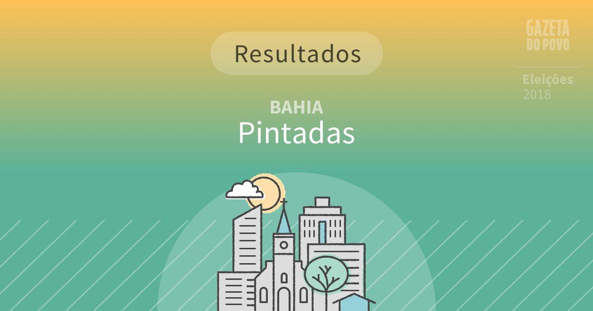 Resultados da votação em Pintadas (BA)