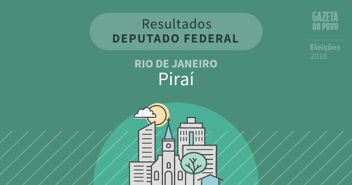 Resultados para Deputado Federal no Rio de Janeiro em Piraí (RJ)