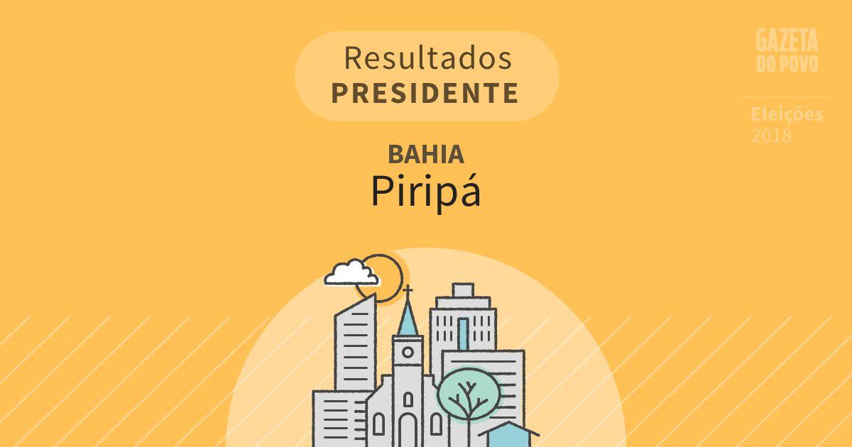 Resultados para Presidente na Bahia em Piripá (BA)