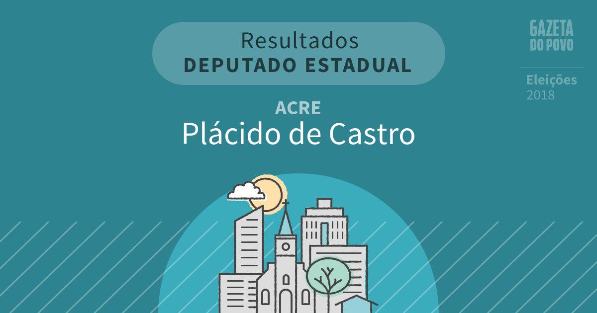 Resultados para Deputado Estadual no Acre em Plácido de Castro (AC)