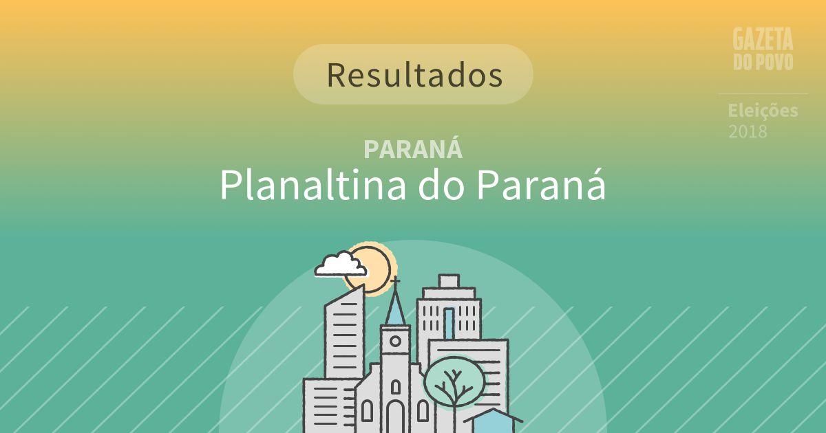 Resultados da votação em Planaltina do Paraná (PR)