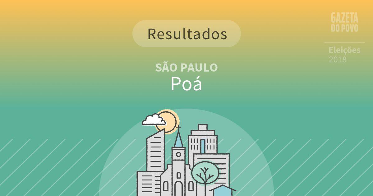Resultados da votação em Poá (SP)