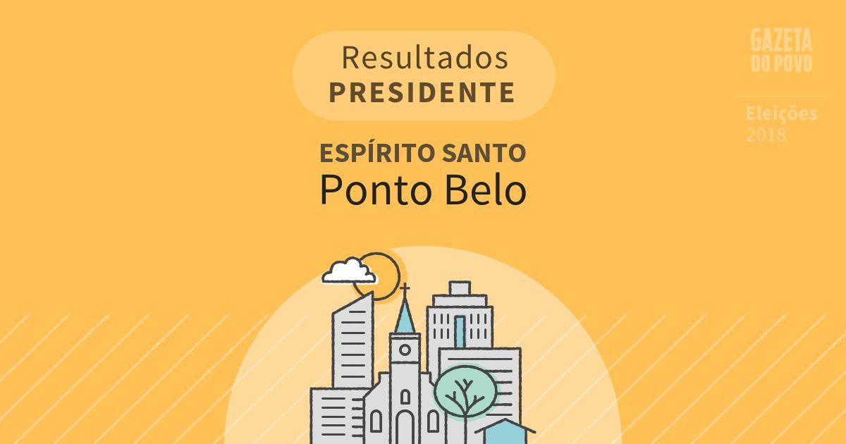 Resultados para Presidente no Espírito Santo em Ponto Belo (ES)