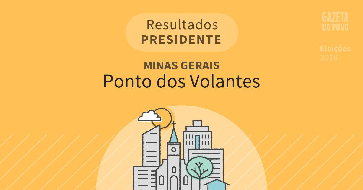 Resultados para Presidente em Minas Gerais em Ponto dos Volantes (MG)