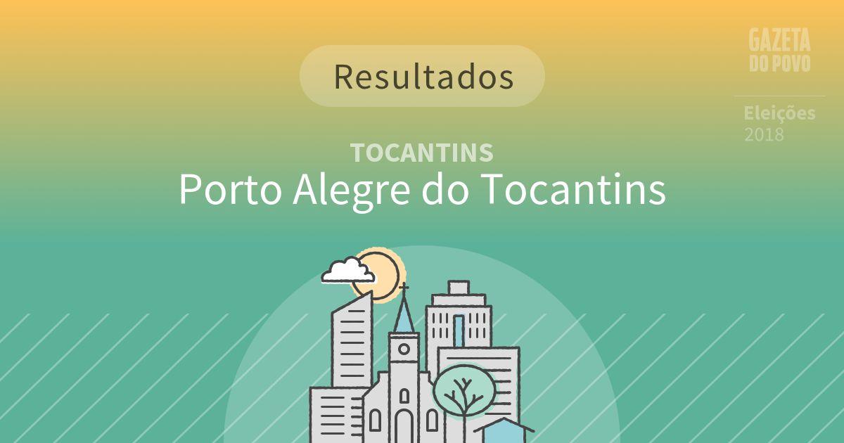 Resultados da votação em Porto Alegre do Tocantins (TO)