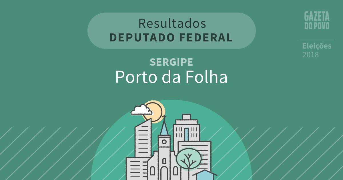 Resultados para Deputado Federal no Sergipe em Porto da Folha (SE)