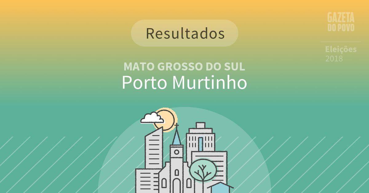 Resultados da votação em Porto Murtinho (MS)