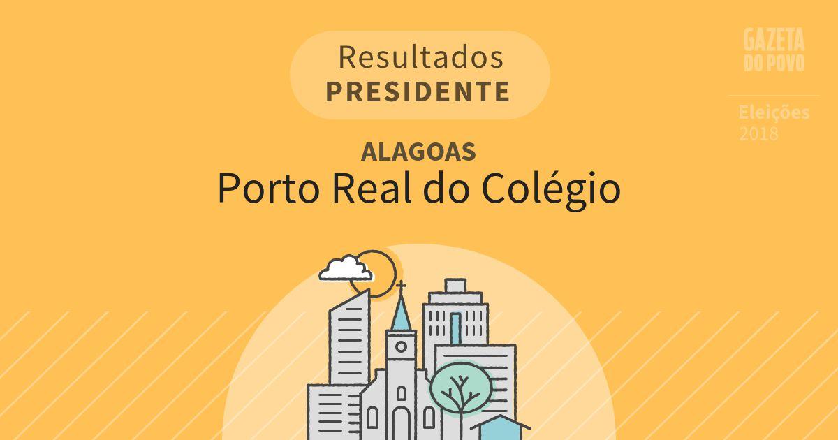 Resultados para Presidente em Alagoas em Porto Real do Colégio (AL)
