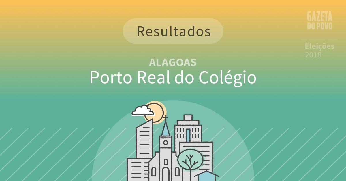 Resultados da votação em Porto Real do Colégio (AL)