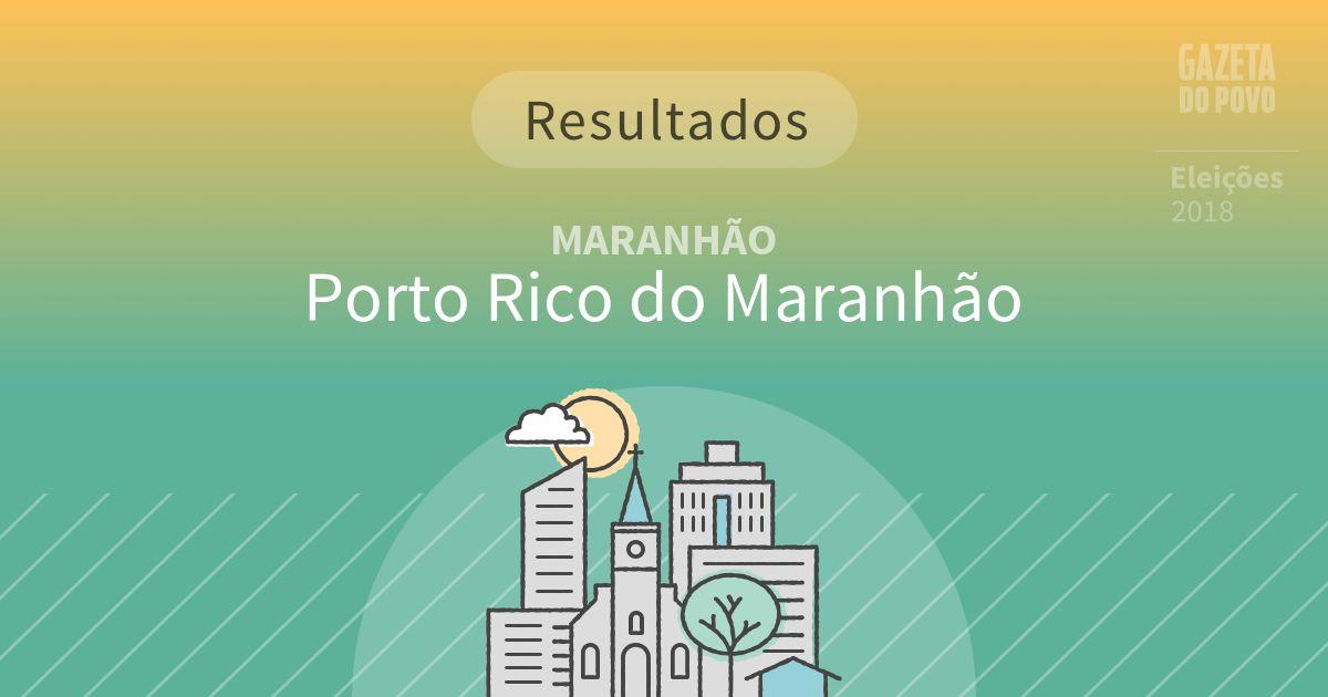 Resultados da votação em Porto Rico do Maranhão (MA)