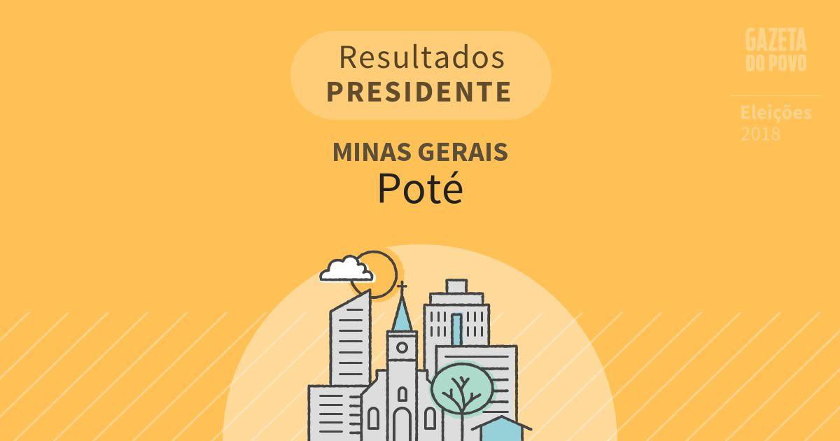 Resultados para Presidente em Minas Gerais em Poté (MG)