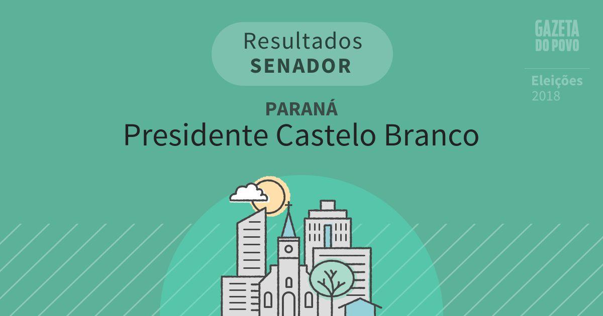 Resultados para Senador no Paraná em Presidente Castelo Branco (PR)