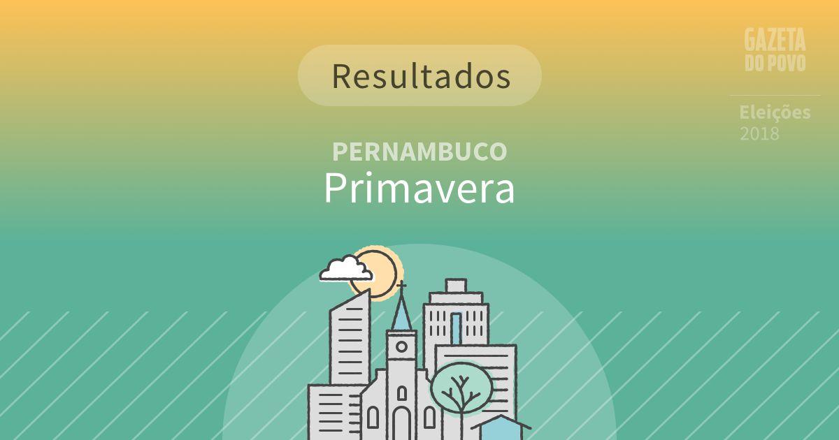 Resultados da votação em Primavera (PE)