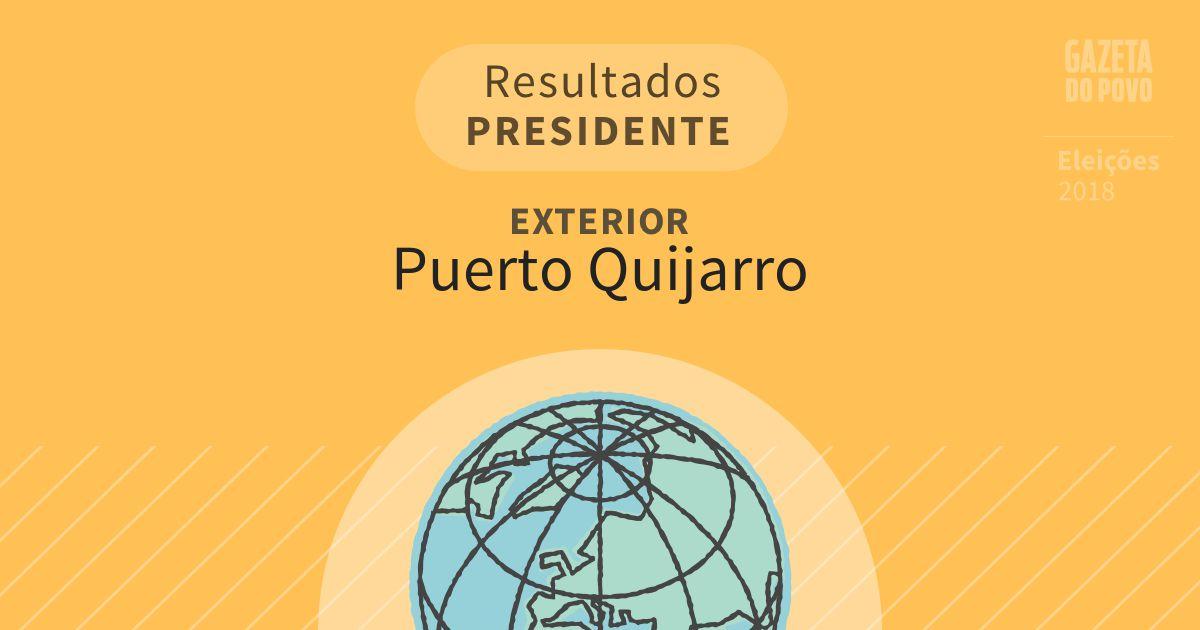 Resultados para Presidente no Exterior em Puerto Quijarro (Exterior)
