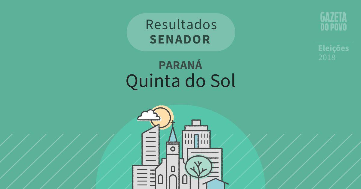 Resultados para Senador no Paraná em Quinta do Sol (PR)