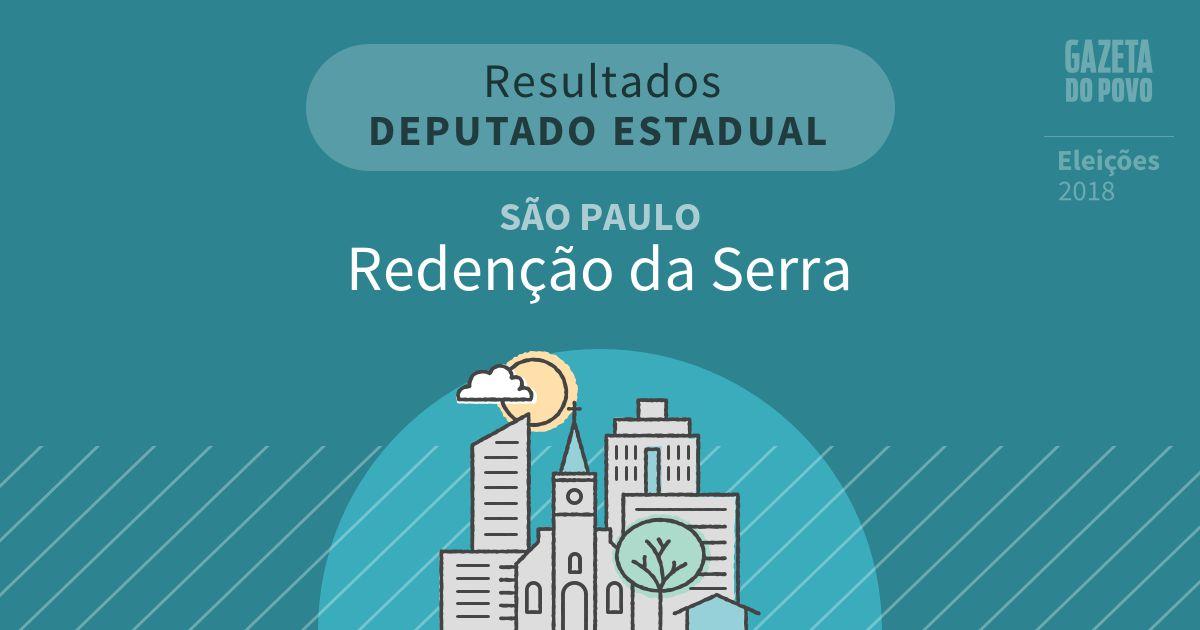 Resultados para Deputado Estadual em São Paulo em Redenção da Serra (SP)