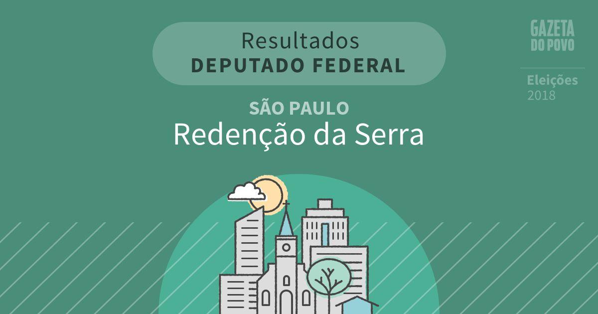 Resultados para Deputado Federal em São Paulo em Redenção da Serra (SP)