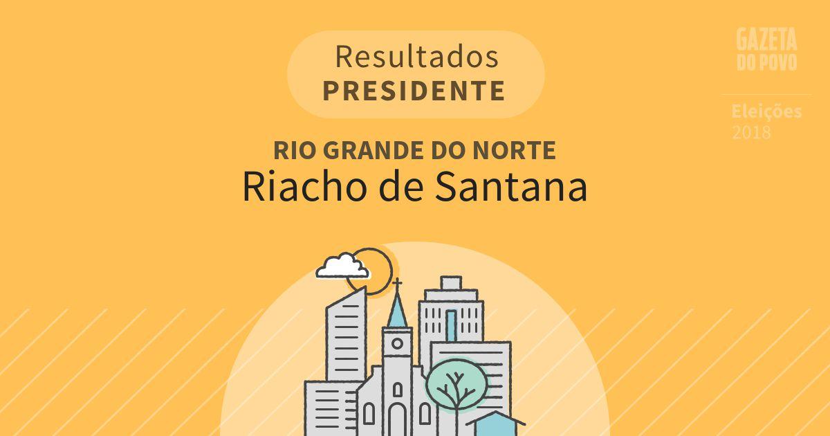 Resultados para Presidente no Rio Grande do Norte em Riacho de Santana (RN)