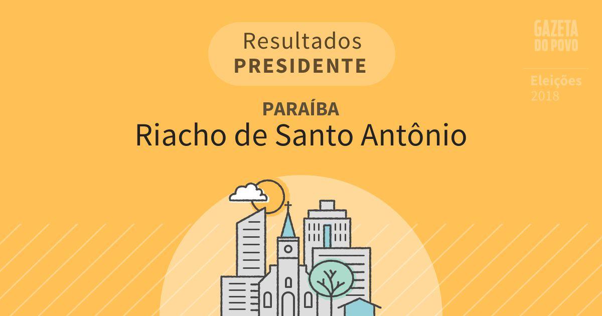 Resultados para Presidente na Paraíba em Riacho de Santo Antônio (PB)