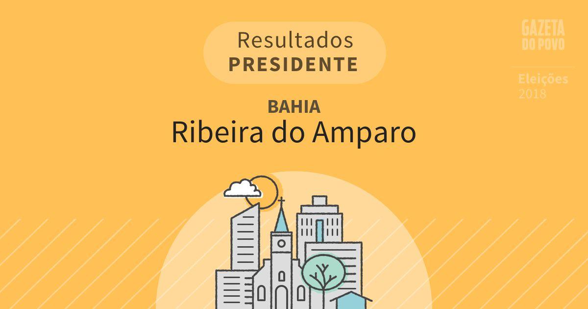 Resultados para Presidente na Bahia em Ribeira do Amparo (BA)