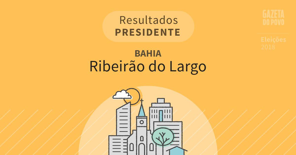 Resultados para Presidente na Bahia em Ribeirão do Largo (BA)