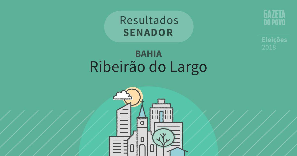 Resultados para Senador na Bahia em Ribeirão do Largo (BA)