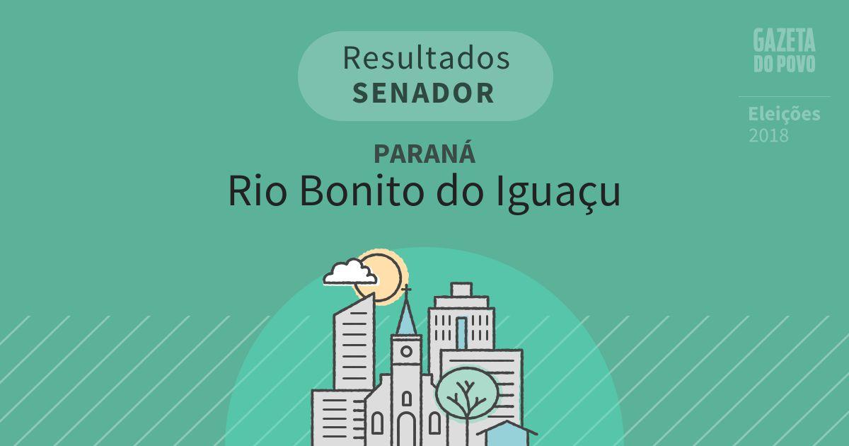 Resultados para Senador no Paraná em Rio Bonito do Iguaçu (PR)