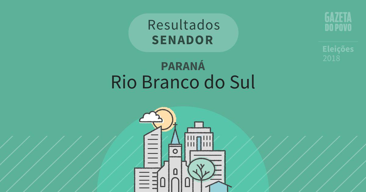 Resultados para Senador no Paraná em Rio Branco do Sul (PR)