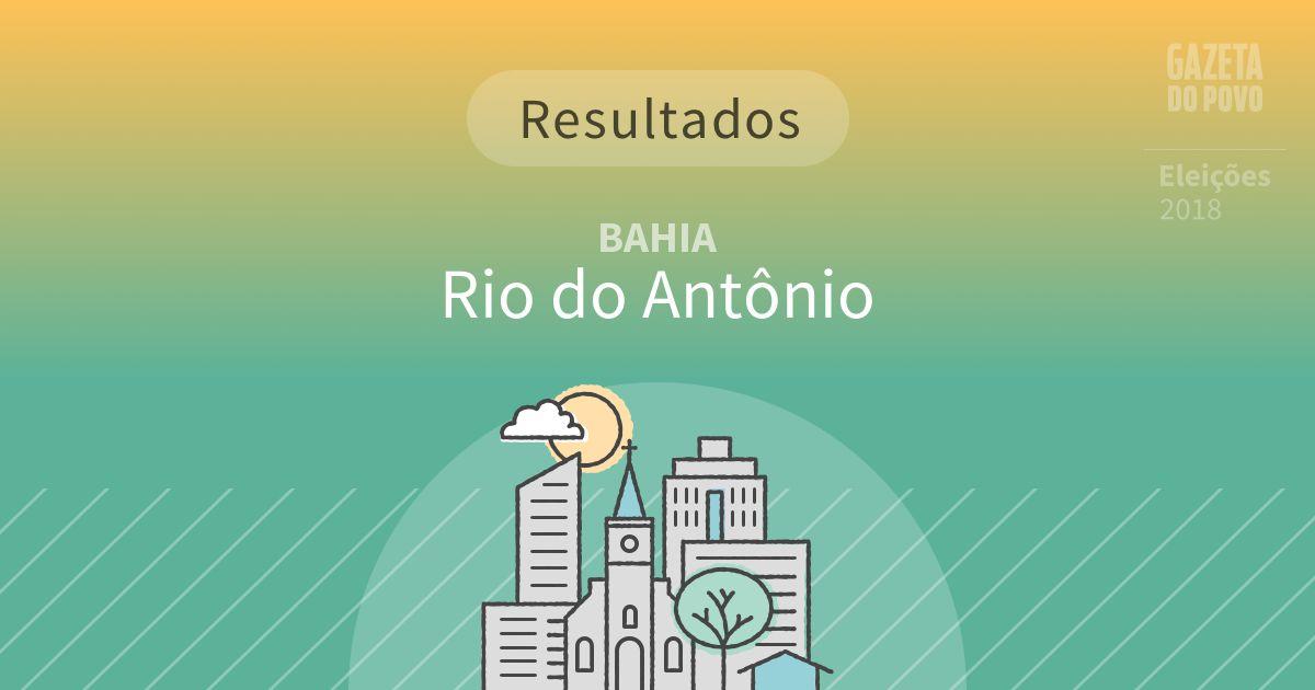 Resultados da votação em Rio do Antônio (BA)