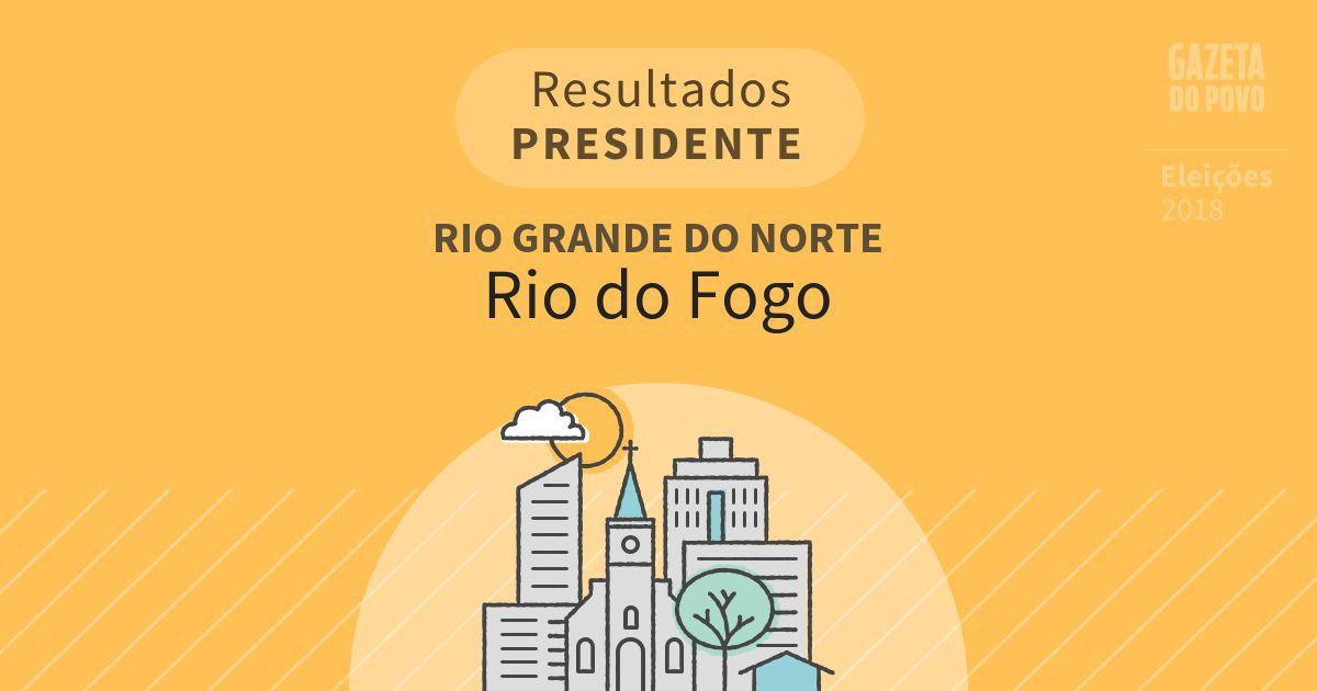 Resultados para Presidente no Rio Grande do Norte em Rio do Fogo (RN)